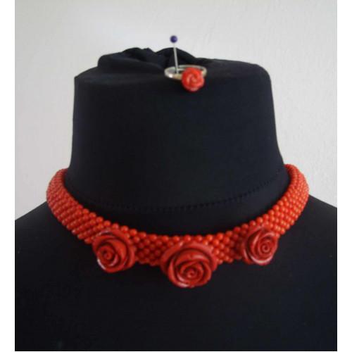 Korálový šperk na krk - Egypt