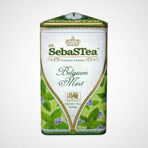 Sypaný zelený čaj s příchutí Belgium Mint