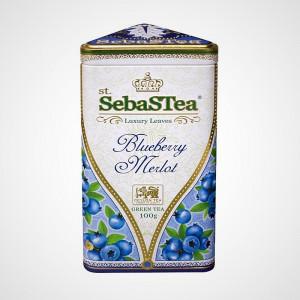 Sypaný zelený čaj s příchutí Blueberry Merlot