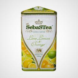 Sypaný zelený čaj s příchutí Lime, Lemon Orange