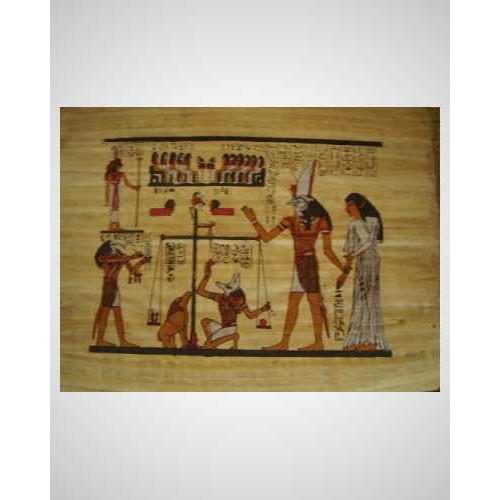 Papyrus malý ručně malovaný 01 ( 40x30 cm )