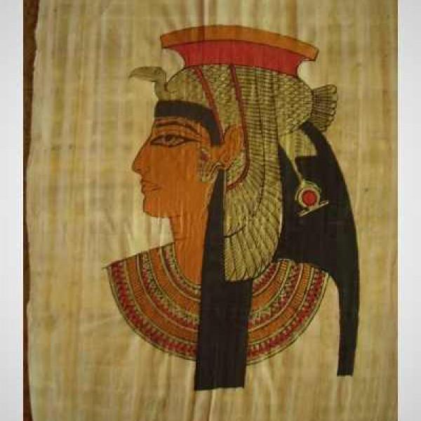 Papyrus malý ručně malovaný Kleopatra ( 30x40 cm )