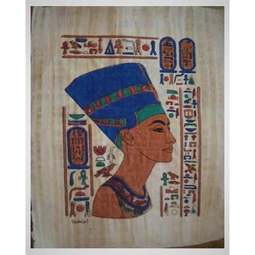 Papyrus malý ručně malovaný Nefertiti ( 30x40 cm )